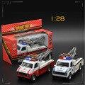 1:28 Aleación Diecast modelo de coche de juguete de metal del coche material de hot wheels aleación de camión de juguete para niños C1008 política remolque 2 opción del color