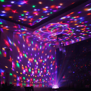 Image 5 - Lampe disco RGB boule magique LED, éclairage décoratif de scène, USB, Center de musique pour la maison, éclairage de scène, Stroboscopes et son fête