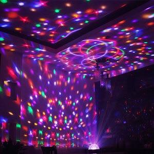 Image 5 - RGB LED Magic ball disco Lights for Home Music Center Car USB Decoration Stage Lighting Effect Stroboscopes Sound Party Light