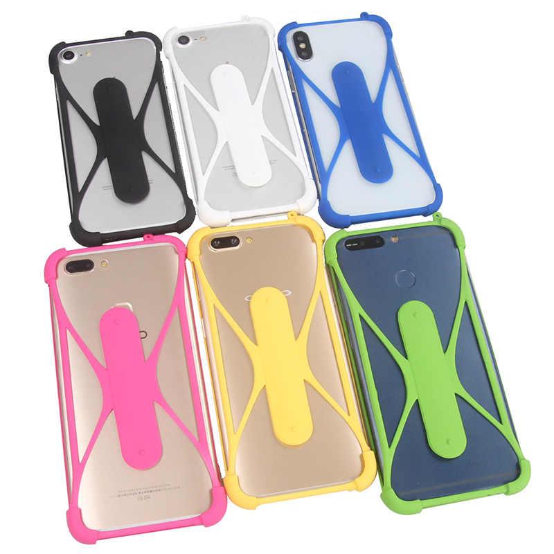 Per DOOGEE Y7 Universale da 5.84 pollici Smartphone Cassa Del Silicone Della Cinghia del Collo Supporto Del Telefono Delle Cellule di Supporto a Portata di mano