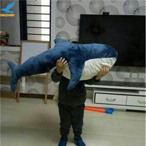 Fancytrader 39\'\' Big Plush Hammerhead Shark Soft Stuffed Lifelike Animal Shark Toy for Kids 100cm Great Gift & Home Decoration (10)