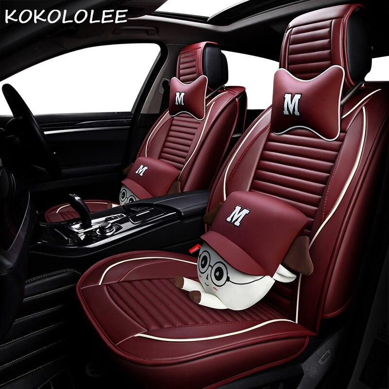 KOKOLOLEE pu housse de siège de voiture pour lada granta kalina lada 2107 2114 kalina 2 largus priora vesta xray auto accessoires voiture-style