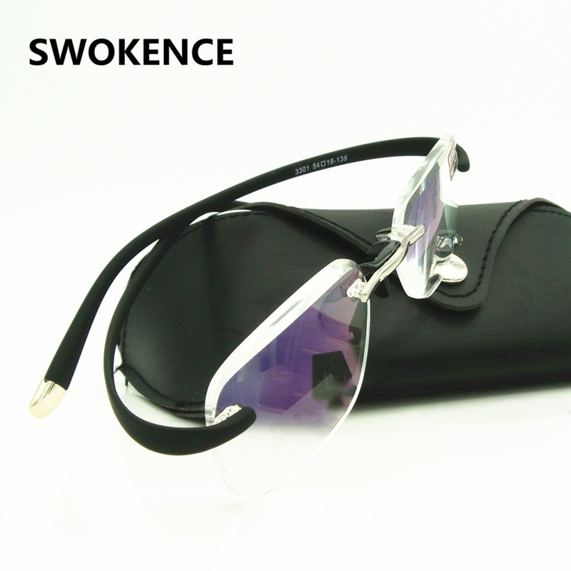 Brand Extremely Flexible Temple Rimless Reading Glasses Spectacles Magnifying Vision Magnifier Diopter Men Women Reader R104