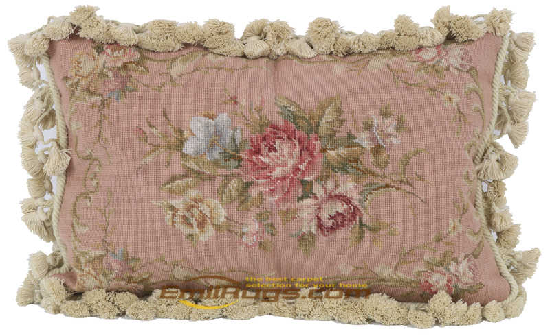 nodic home wool handmade cushion embroidery pink floral pillowcases for chair bedroom vintage pastoral style 33agc165neecusyg4