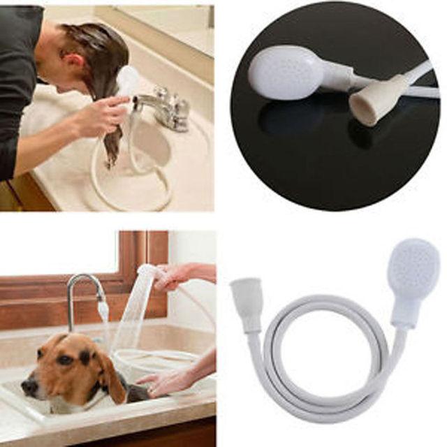 Włosy psa prysznic dla zwierząt spraye wąż wanna z hydromasażem kran zlew do mycia akcesoria łazienkowe