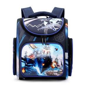 Image 2 - Детский рюкзак для начальной школы для мальчиков и девочек, ортопедический ранец с гоночными машинами, школьные портфели с бабочками