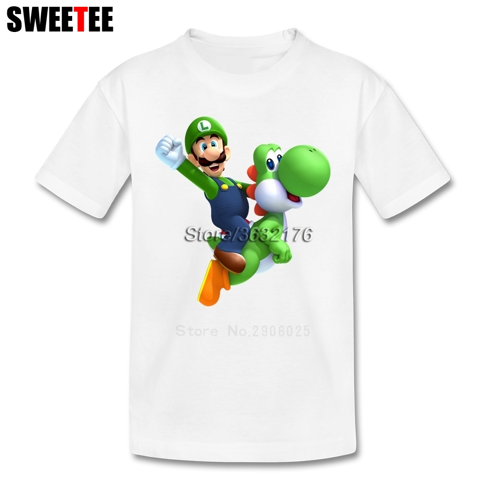 Super Mario Bros Yoshi T Shirt Kid Cotton Toddler O Neck Baby Tshirt Children Infant Clothing 2018 T-shirt For Boy Girl