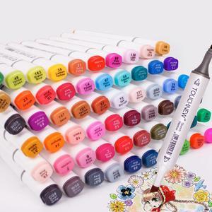 Image 2 - Touchnew 30/40/48/60/80/168 cores marcadores de arte gráfico desenho pintura álcool arte dupla ponta esboço caneta marcador gêmeo design caneta