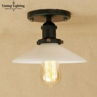 Loft Stil Edison Industrie Jahrgang Deckenleuchte Antike Eisen Glas Led-deckenleuchte Leuchten Innenbeleuchtung Lamparas