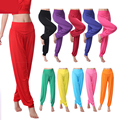 Autumn and winter female cotton trousers loose waist pants belly dance pants Bottoms breathable