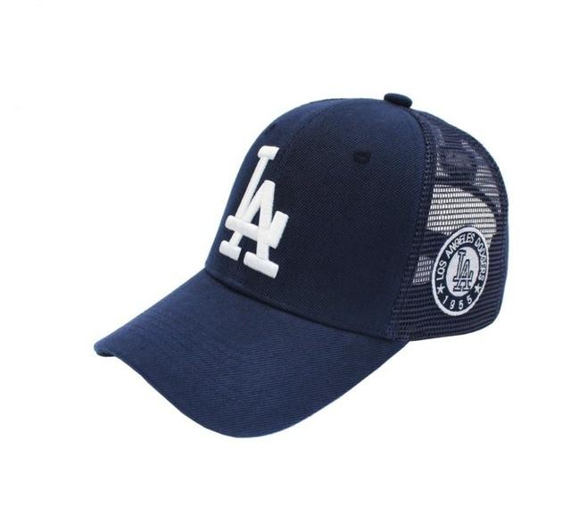 2015 Los Angeles Dodgers Snapback Baseball Hat Sports Team Embroidered LA Mesh  Trucker Caps 2 color NO.0072Christmas gift ea40ba3b4d4