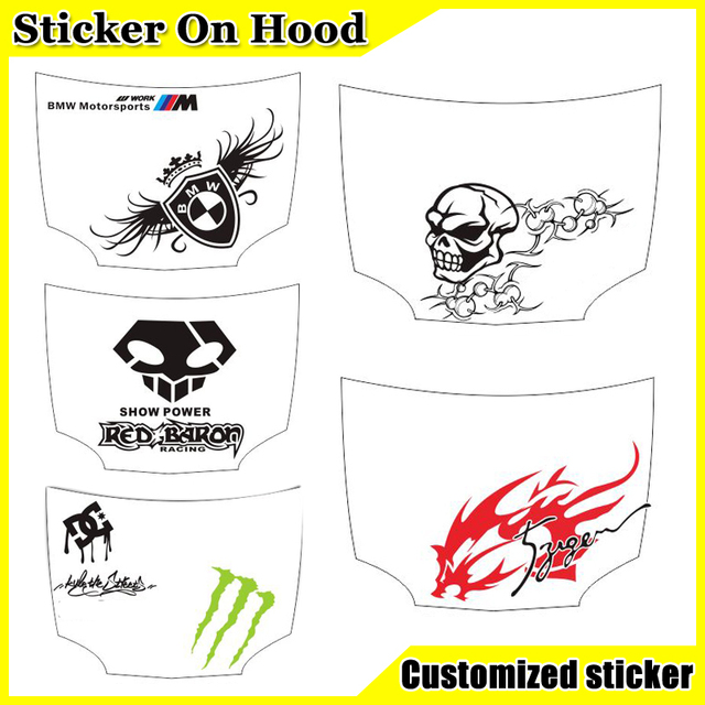 Diy custom personalized car stickers tiger decals umbrella vinyl film for car funny sticker single decal