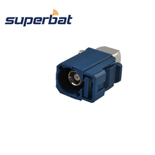 Superbat 10pcs Antenna Fakra C Blue/5005 Connector Jack Female Right Angle to MFD2 RNS2 RNS-E