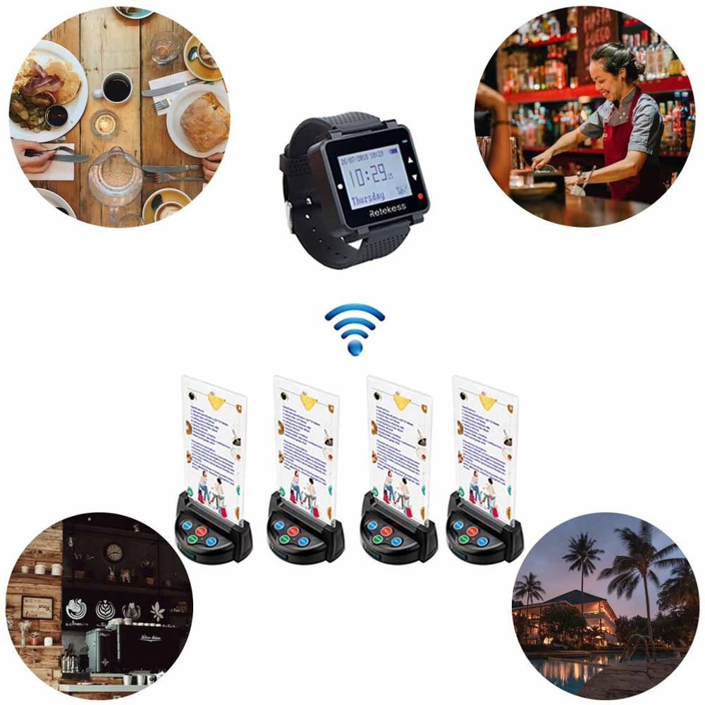 Image 5 - Retekess T128 Watch Receiver + 4pcs TD006 Table Card Pager Wireless Calling System For Restaurant Equipment Customer Service-in Pagers from Computer & Office