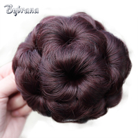 Bybrana Brazilian Hair Remy Hair Chignon 5 Colors Bun Donut Chignon Clip In Hairpiece Extensions For