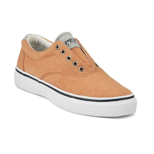 ae6f2093cb28 Sperry Top Sider Men s Burnt Orange Laceless Striper CVO Sneaker-in ...