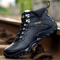 Winter Men shoes Casual Walking Climbing shoes High help Outdoor non-slip velvet warmth Genuine Leather snow boots size 38-44