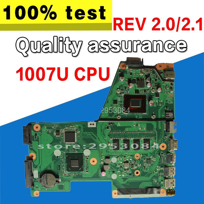 X451CA Motherboard 1007 CPU rev:2.1 For ASUS X451CA X451C Laptop motherboard X451CA Mainboard X451CA Motherboard test 100% OK nokotion fru 63y1878 48 4cu06 031 laptop motherboard for lenovo thinkpad t510 qm57 quadro nvs 3100m board mainboard