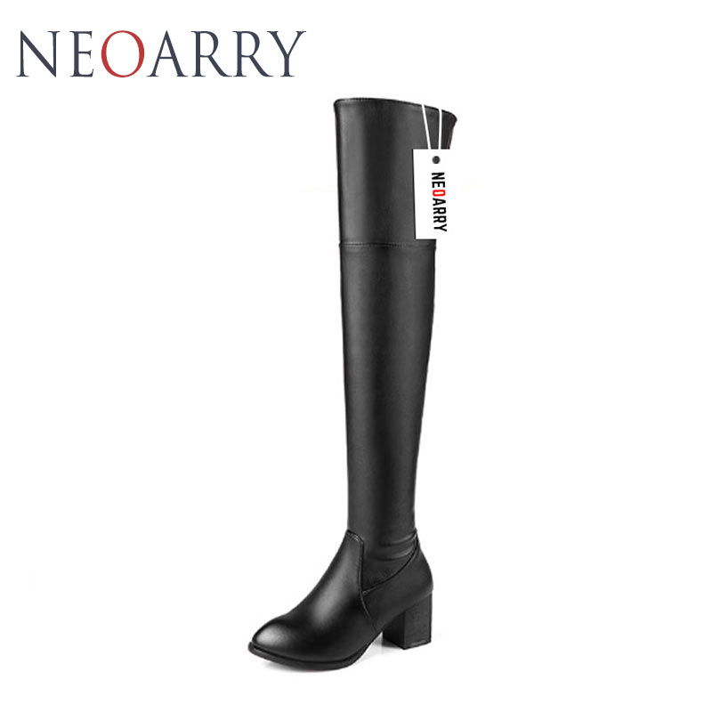 Chaussures Neoarry Qualitu Femmes Haute Pu Botas Hauts Over Black Grande Lt27 Femme Long the white Talons Mode brown Mujer Hiver Taille genou Bottes À rrfUW