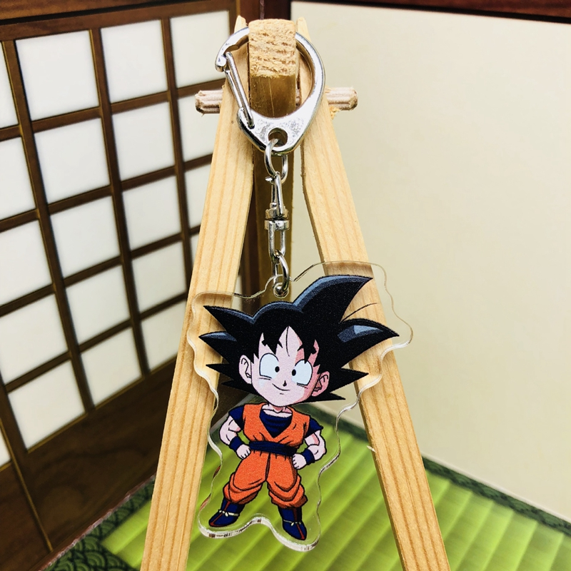 New Dragon Ball Wukong Keychain Keyring Pendants Cosplay Trunks Acrylic Keychain Piccolo Key Ring Key Chains