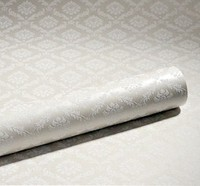 Modern Solid Silver Gray Damask Wallpaper Roll For Bedding Room Decor Pink