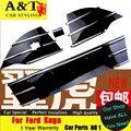 A & T estilo do carro Para Ford Kuga escape Grille guarnição 2013-2015 Para O Kuga Grade adesivos de alta versão tira Styling Cromo grade