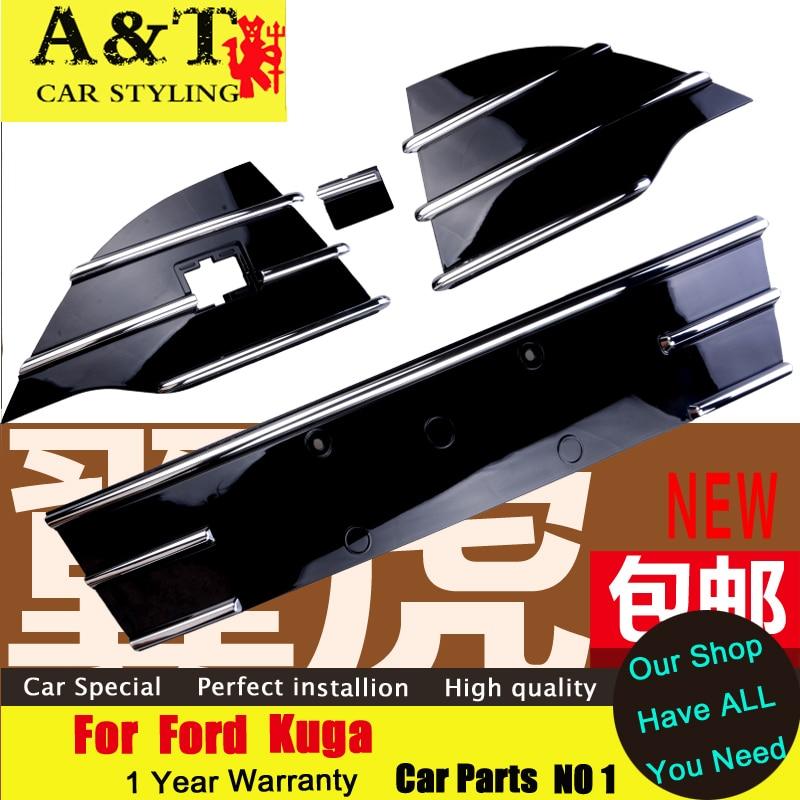 Prix pour A & T style de voiture Pour Ford Kuga Escape Grille garniture 2013-2015 Pour Kuga Grille autocollants haute version Grille bande Chrome Styling