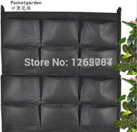 12 Pockets NEW Felt 1PC Outdoor Vertical Gardening Flower Pots And Planter Hanging Pots Planter On