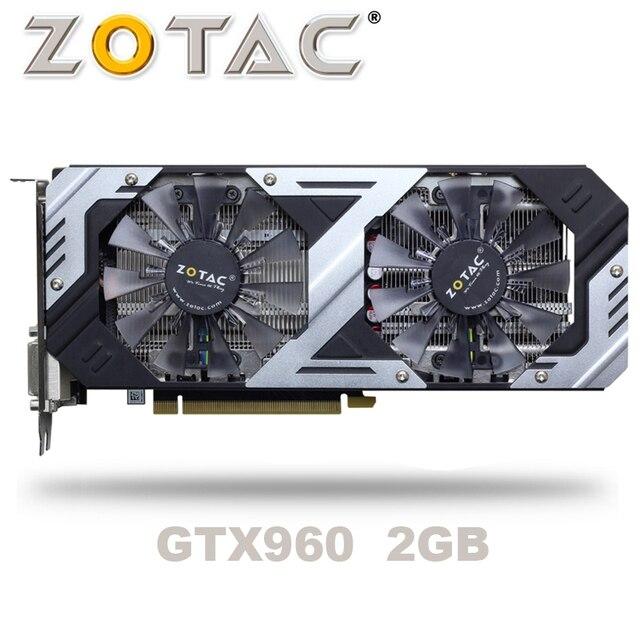 ZOTAC GTX 960 OC 2GB GT960 GTX960 2G D5 DDR5 128 بت nVIDIA PC سطح المكتب بطاقات الرسومات PCI Express 3.0 بطاقات الرسومات الكمبيوتر