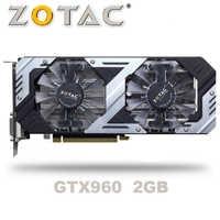 ZOTAC GTX-960-OC-2GB GT960 GTX960 2G D5 DDR5 128 bits cartes graphiques nVIDIA pc de bureau PCI Express 3.0 cartes graphiques d'ordinateur