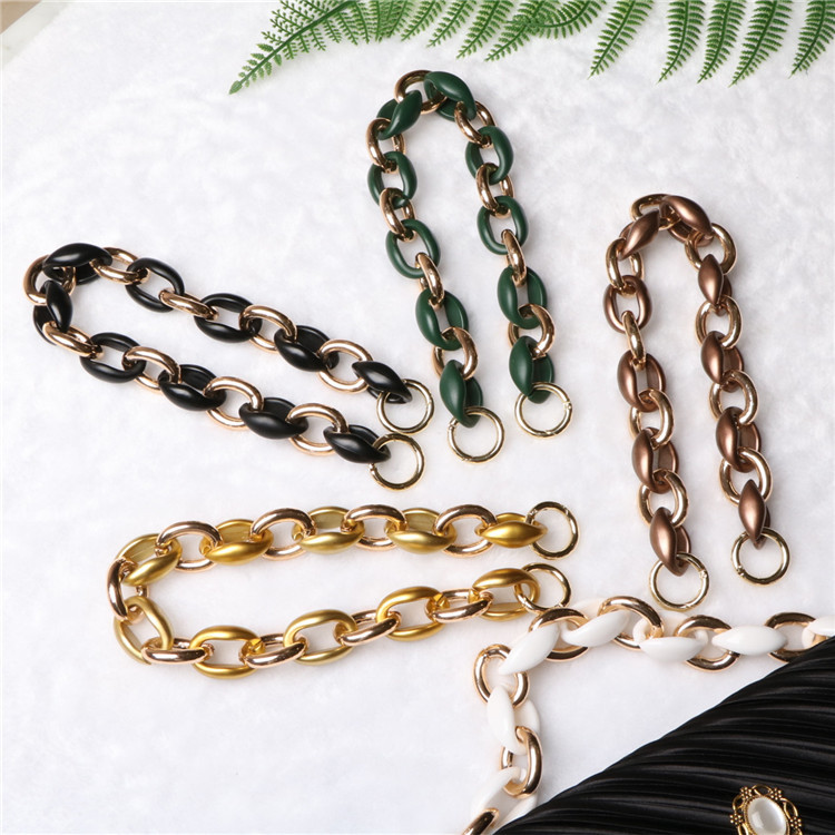 40cm Acrylic Buddhist Relics Metal Mix Bag Handle Designer Shoulder Strap Luxury Women Bags Chain Purses Chains Bags Accessories