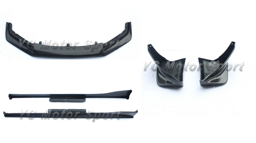 Car Accessories <font><b>Carbon</b></font> Fiber VTX Style Body Kit Fit For 2012-2016 <font><b>GT86</b></font> FT86 ZN6 Bodykits Front Lip Side Skirt Rear Bumper Cap image