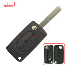 цена на CE0536 model remote control key fob case 3 button HU83 for Citroen C3 C4 C5 C6 Picasso Peugeot 307 407 308 kigoauto