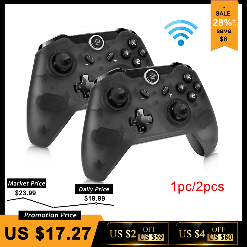 Bluetooth inalámbrico Pro controlador remoto Gamepad para Nintend interruptor Pro consola para NS para PC Control Joystick