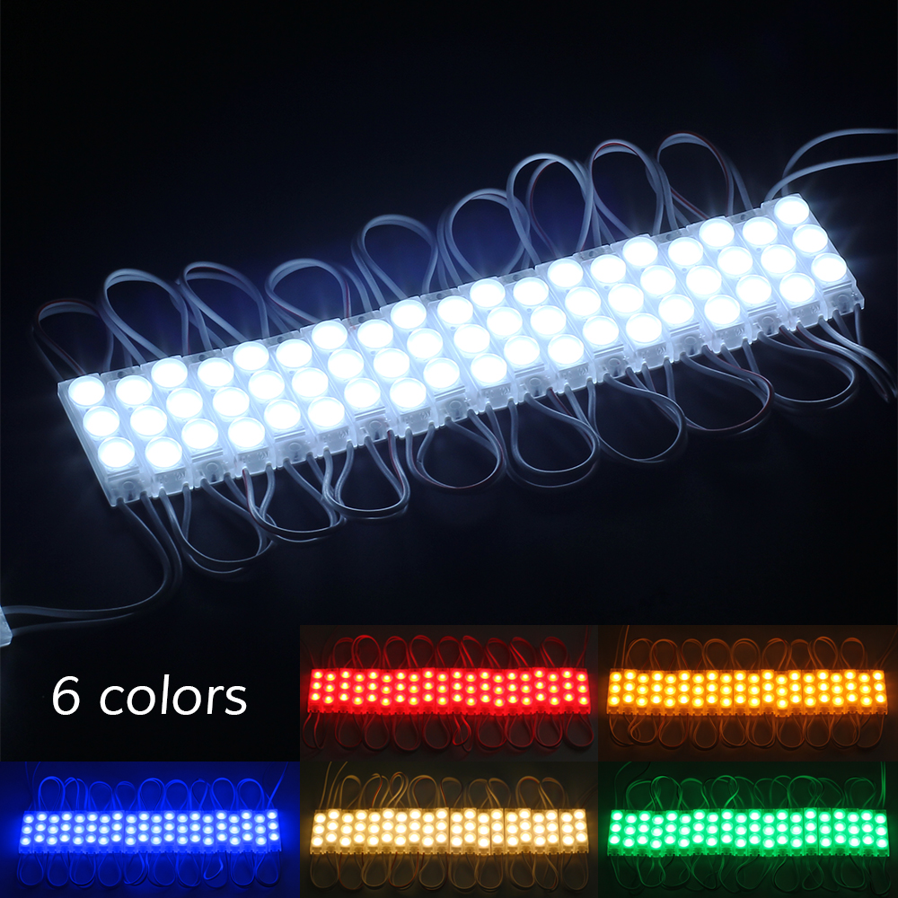 20pcs Hollywood DIY Vanity Light Led Module with Adapter Use for Makeup Dressing Table Mirror Lighting Backlighting