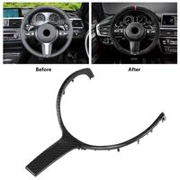 1PCs New Design Car Carbon Fiber Steering Wheel Trim for BMW F20 F22 F30 F32 F10 F06 F15 F16 M Sport 2015 2016 2017 2018