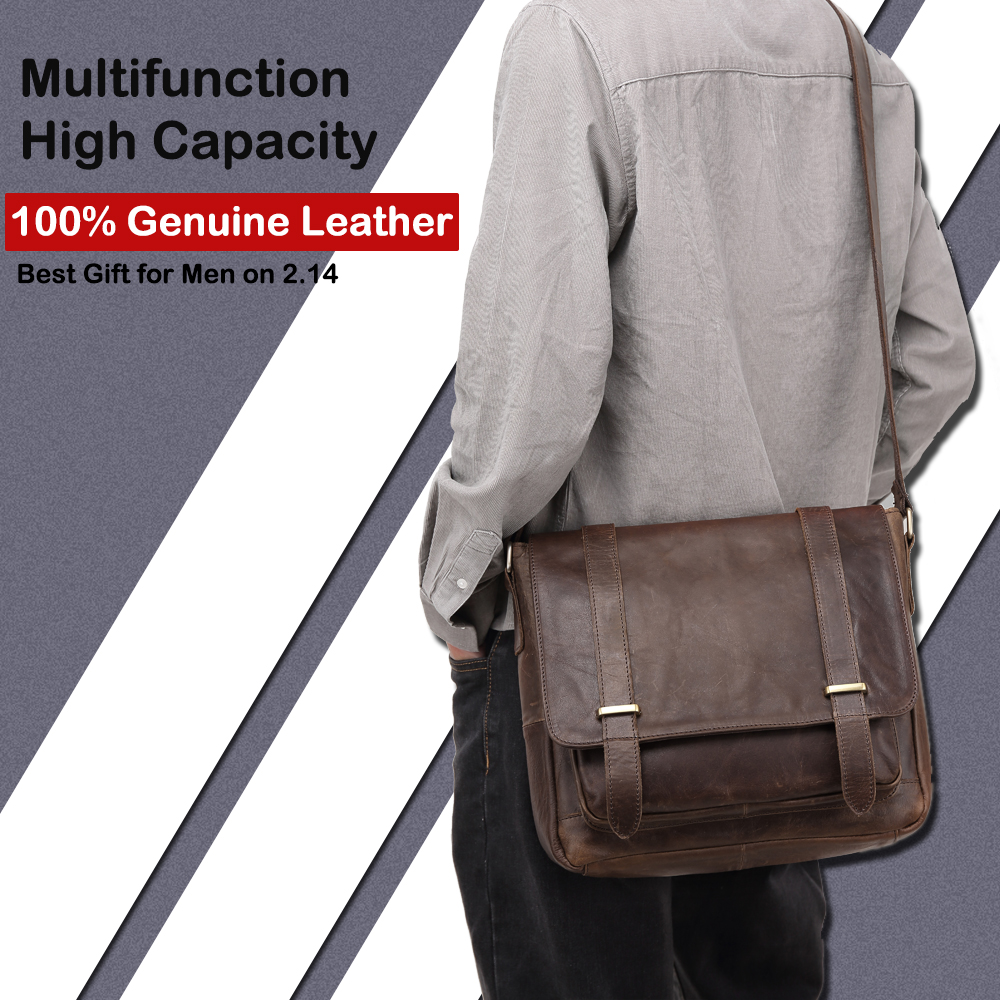 X.d.bolo Messenger Bag Men Genuine Leather Men's Shoulder Bags Cowhide Casual Crossbody Crazy Horse For Male