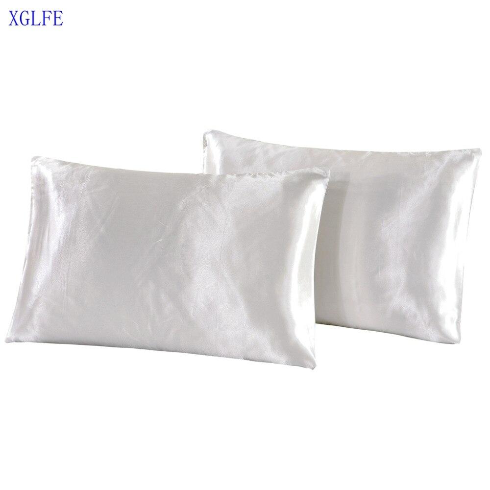 xglife funda de almohada funda de almohada de la almohada de seda de - Textiles para el hogar
