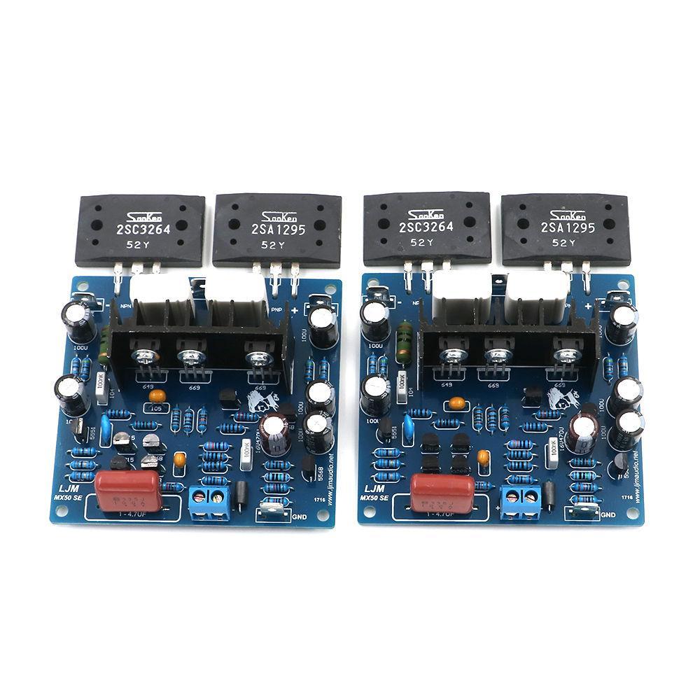 New 2pcs Mx50 Se 100wx2 Kec Ktb817 Ktd1047 Sanken 2sa1295 Upc1237 Mirror Symmetry Circuit Time Delay Speaker Protection Board Assembly Lapt 2sc3264 Power Amplifier Dual Channel Amp