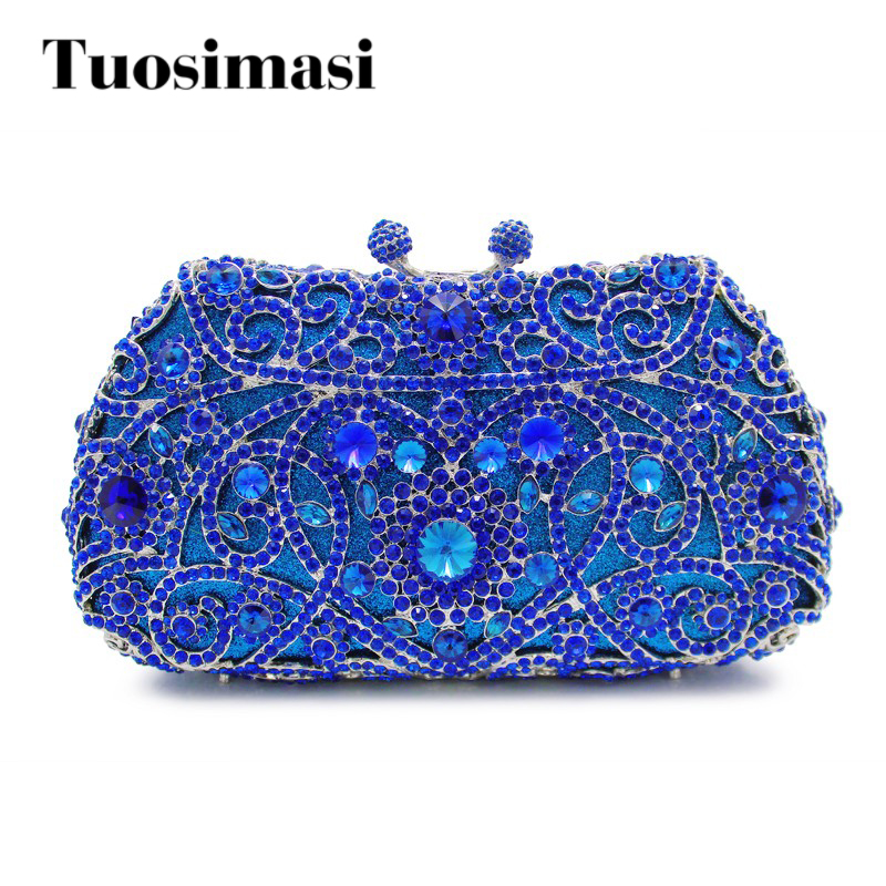 deep dark blue color diamond crystal clutch evening bag ladies handbag mini mini purse wallet (8651A-B2) сплит система ballu bsli 18hn1 ee eu