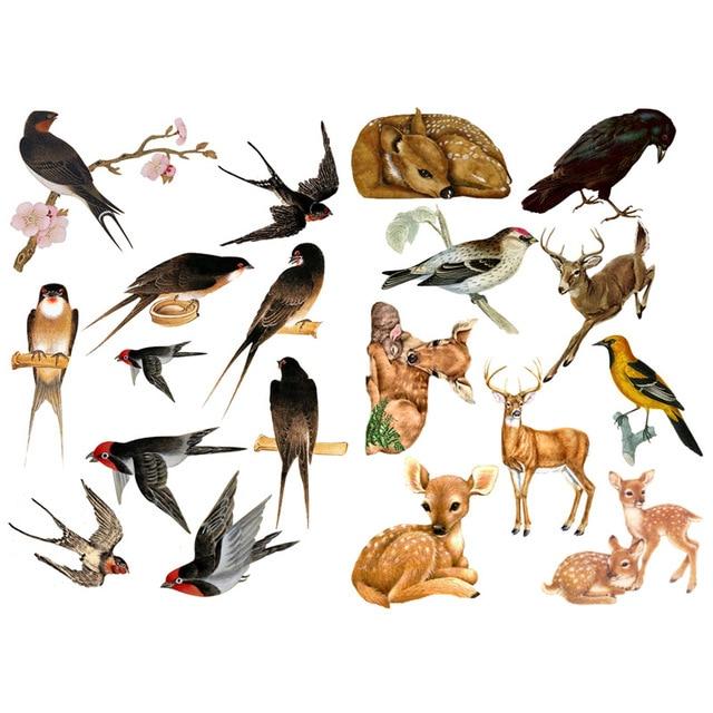 1 PCS Spring Swallow and Deer Handmade Mini Calendar Album Aganda Stickers House of Novelty Cute Mohamm Scapbook Sticker