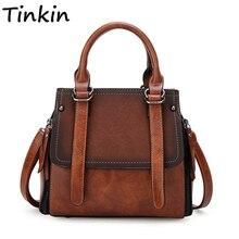 Tinkin Искусственная кожа женские сумки vintage сумка панелями камень женщины сумка
