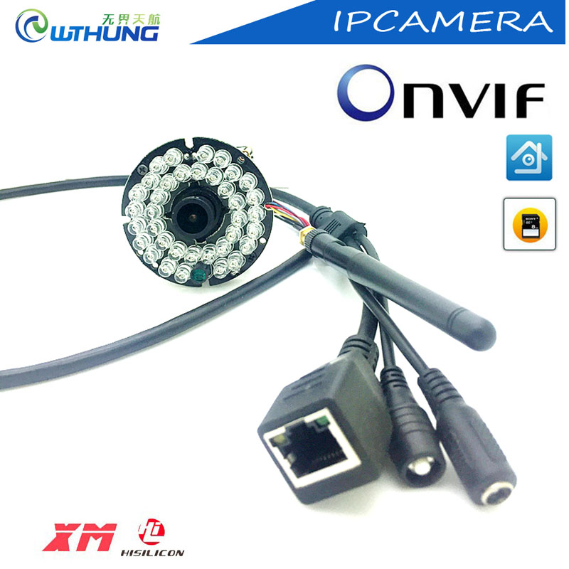 XM Hi3518E Wireless wired IP camera module 720P 960P 1080P Support motion detector Onvif P2P SD card slot Max32G IR Night vision
