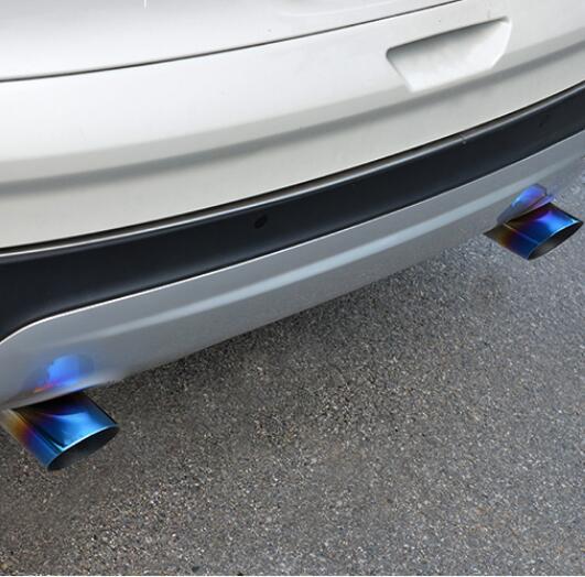 2 unids/set de tubo de Escape de acero inoxidable de alta calidad, silenciador trasero, carcasa cver para Ford Escape Kuga 2013-2017, estilo de coche