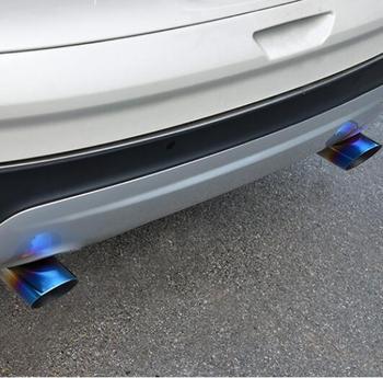 Alta calidad 2 unids/set tubo de Escape de acero inoxidable Punta de silenciador trasero cver funda para Ford Escape Kuga 2013- 2017 estilo de coche