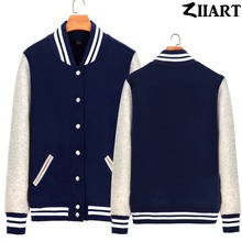 Custom Made Printing Logo Picture Text ect. Girls Woman fleece Baseball Jackets couple clothes ZIIART