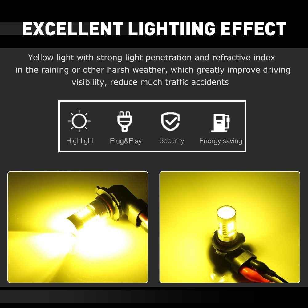 NOVSIGHT H11 H7 LED Fog Light Bulbs 9005 HB3 9006 HB4 H8 H9 Car Fog Lamp 160W 1800LM 6000K Auto Driving Fog Lights SMD Led Chip
