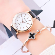 Top Brand Watch Women Luxury Rose Gold Dress Wrist Watches Ladies Fashion Casual Leather Sport Quartz Watch Clock montre femme mige real top brand luxury casual fashion ladies watches white leather rose gold case female clock quartz waterproof women watch