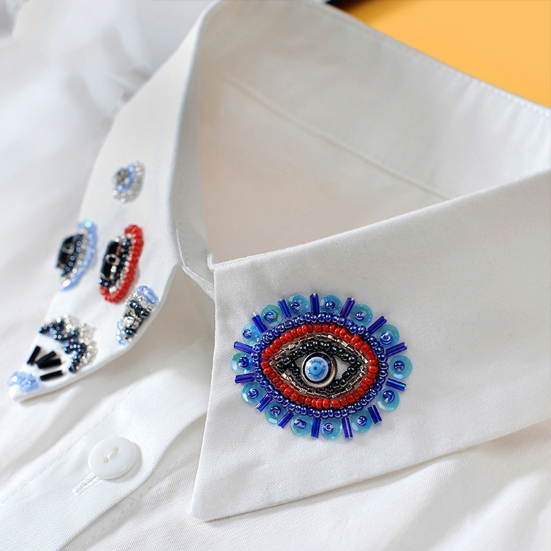 Beading White Women Shirt False Collars Black 2020 Removable Collars For Women Fake Collar Women Detachable Collars Sahte Yaka