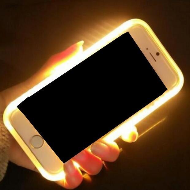 imágenes para Iluminar la Generación 1rd Autofoto Luminoso Cubierta de la Caja Del Teléfono para Samsung S6 S7 S6Edge S7edge Brillante Fundas para Samsung Galaxy cubre